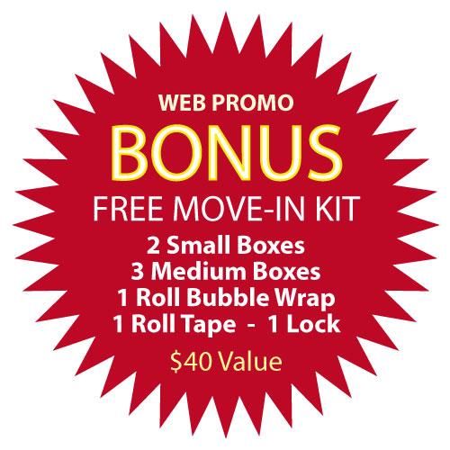 Storage Inn Move-In Kit Bonus